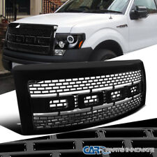 2009-2014 Ford F150 Pickup Raptor Style Black Front Hood Grill Grille w/ Shell