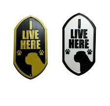 Mastiff I Live Here - 3D Printed Dog Plaque - Door Gate Garden Sign