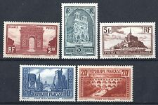 "FRANCE 258 / 262 "" SERIE 5 SITES MONUMENTS , PONT DU GARD "" NEUF xx LUXE  P487"
