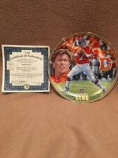 John Elway Collector Plate With Coa (From the Quarterback Club Series )