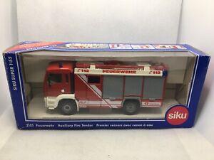 SIKU 2101 AUUXILIARY FIRE ENGINE TRUCK MIB