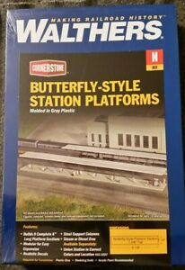 Walthers N Scale Butterfly-Style Station Platforms Kit. NIB