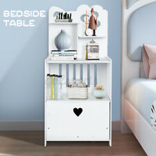 Bedside Tables Drawers Gloss Side Table Nightstand Storage Cabinet Bookshelf AU