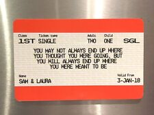Personalised Train Ticket, Fridge Magnet Gift Idea Valentine's Day Anniversary