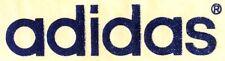 Original Vintage Adidas Logo Mini Iron On Transfer Blue