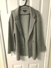 New J.Crew Sparkly Sophie Open-Front Sweater Blazer, Silver Grey, Large RRP £138