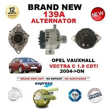 FOR OPEL VAUXHALL VECTRA C 1.9 CDTi 2004-> 139A ALTERNATOR with CLUTCH PULLEY