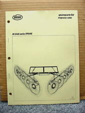 Vicon H 1340 Series 59002 Rotary Rake Spare Parts List Manual #15 Trapeze
