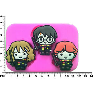 Harry Potter Inspired Harry Hermione & Ron Silicone Mould by Fairie Blessings