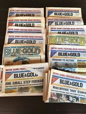 1984-94 Blue & Gold Illustrated Notre Dame ND Fighting Irish Football Newspapers
