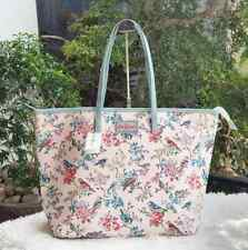 Cath Kidston Large Everyday Zip Tote Bag - Pink Birds and Flowers Print