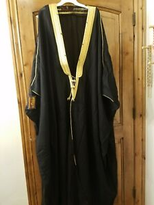 Saudi Islamic Arab Dress Sheikh Kaftan Cloak, Mashlah Bisht