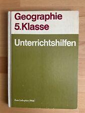 Unterrichtshilfen DDR - Geographie Klasse 5 - Schulbuch - 1966 - gebraucht