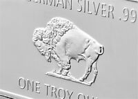 Bullion Bar Fine Germany Silver .999 Mint 1 Troy Ounce Buffalo European Coins