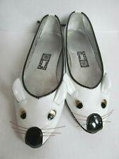 Vintage Enzo Of Roma white leather mouse flats shoes Euro 36 Us 5.5 Kurt Geiger