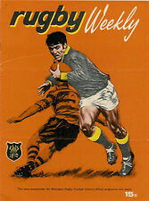 University, Marist St Pat's 6 May 1972 Wellington NZ Rugby Programme