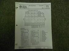 1987 VW JETTA CIS E Main Wiring Diagram Service Repair Shop Manual INCOMPLETE 87