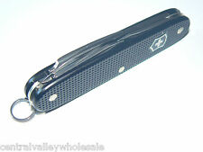 New Victorinox Swiss Army 93mm Alox Knife  BLACK PIONEER  Boxed  54968