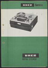 Uher Royal Stéréo Original Magnétophone Manuel de Service / Circuit Diagram o143