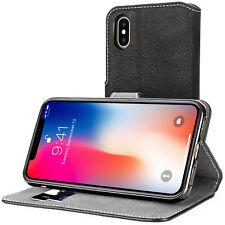 Premium PU Leather Wallet Case For The Apple iPhone X Folio Flip Stand Cover