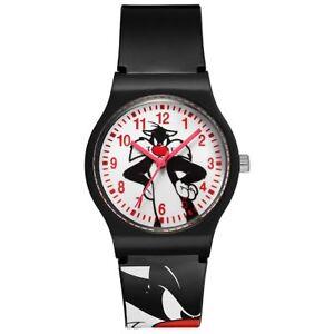 Warner Bros Uhr SI-01 Looney Tunes Kinderuhr Jungen Uhr Schwarz Watch NEU & OVP