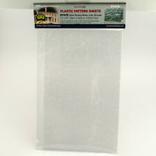 """JTT SCENERY 97475 SLOW FLOWING WATER 10mm WAVE ALL- SCALE (2) 7.5""""x12"""" SHEETS"""