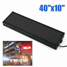 Sign Programmable Scrolling Advert Led Message Display Board Full Color 40x10