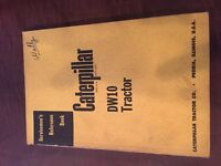 CAT CATERPILLAR SERVICEMEN'S REFERENCE BOOK MANUAL  DW10 TRACTOR