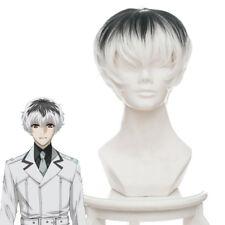 Anime Tokyo Ghoul Re Sasaki Haise Cosplay Wig Black White Gradient Short Hair
