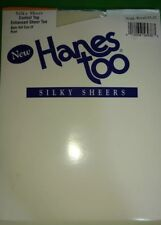 Hanes Too Silky Sheer Control Top Nylons Sz Ef Style H59 Pantyhose Pearl New