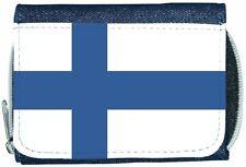 Finland Flag Denim Wallet