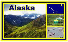 ALASKA - SOUVENIR NEUHEIT KÜHLSCHRANK-MAGNET - BRANDNEU - GESCHENK / WEIHNACHTEN