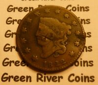 1822 Large Cent   #MQ22 CULL