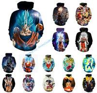 Dragon Ball Z Hoodies Goku Broli 3D Print Pullover Hoodie Sweater Sweatshirt
