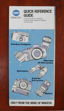 MINOLTA QUICK REFERENCE GUIDE SALES BROCHURE/165280