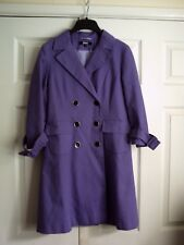 ASOS BNWOT double breasted cotton coat in purple
