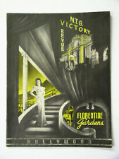 1943 N.T.G. Victory Revue Florentine Gardens Souvenir Program ~ Yvonne De Carlo