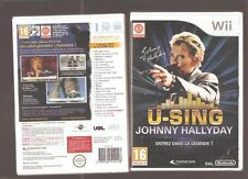 U-SING JOHNNY HALLYDAY !!! Un Jeu Mythique sur Wii/WiiU : Jeu NEUF Blister