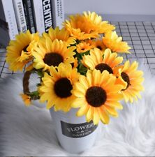 13Heads Artificial Silk Flowers Sunflower Party Garden Decor Photography Props