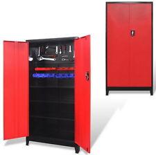 Outil en Métal Armoire étagères de rangement étagères réglables Métal Robuste Garage Rouge