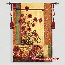 "Modern Poppies Fine Art Tapestry Wall Hanging, Cotton 100%, 53""x33"", UK"