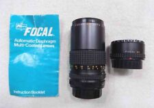 Vintage Pentax Focal MC 80-200mm 1:4.5 Zoom Lens w/Focal MC 2X Converter - NICE