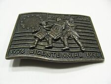 "SPIRIT OF '76 - BICENTENNIAL 1776-1976 - 2 1/2"" X 3"" METAL BELT BUCKLE!"