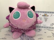 NWT Build-A-Bear  POKEMON  JIGGLYPUFF comes with Certificate,Cape, Sound