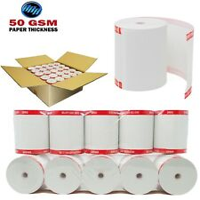 50 GSM Paper Thickness (Coreless) 3 1/8 x 230 thermal paper [50 Rolls] BPA Free