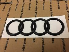 NEW AUDI FRONT REAR BACK TRUNK GRILL LID RING RINGS LOGO BADGE EMBLEM BLACK L