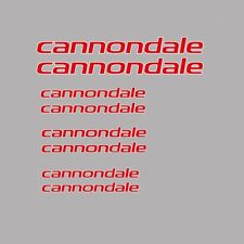 Cannondale Bicycle Decals-Transfers-Stickers - Red - #15