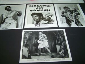 "SCREAMIN' JAY HAWKINS FOUR GLOSSY 8"" X 10"" PHOTO'S NEAR MINT. CONDITION"