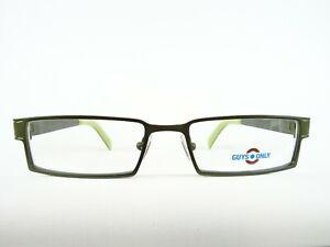 Herrenbrillen dunkelgrüne Metallfassung flache eckige Glasform stabil Gr. M