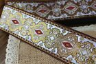 Handmade Woven Jacquard ribbon 2 inch wide - price for 1 yard